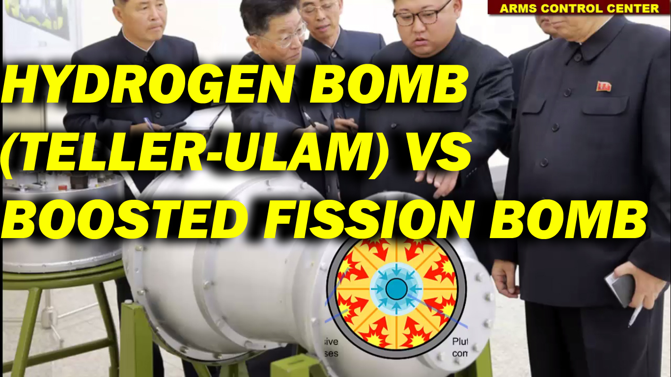 hydrogen bomb vs boosted fission weapon copy